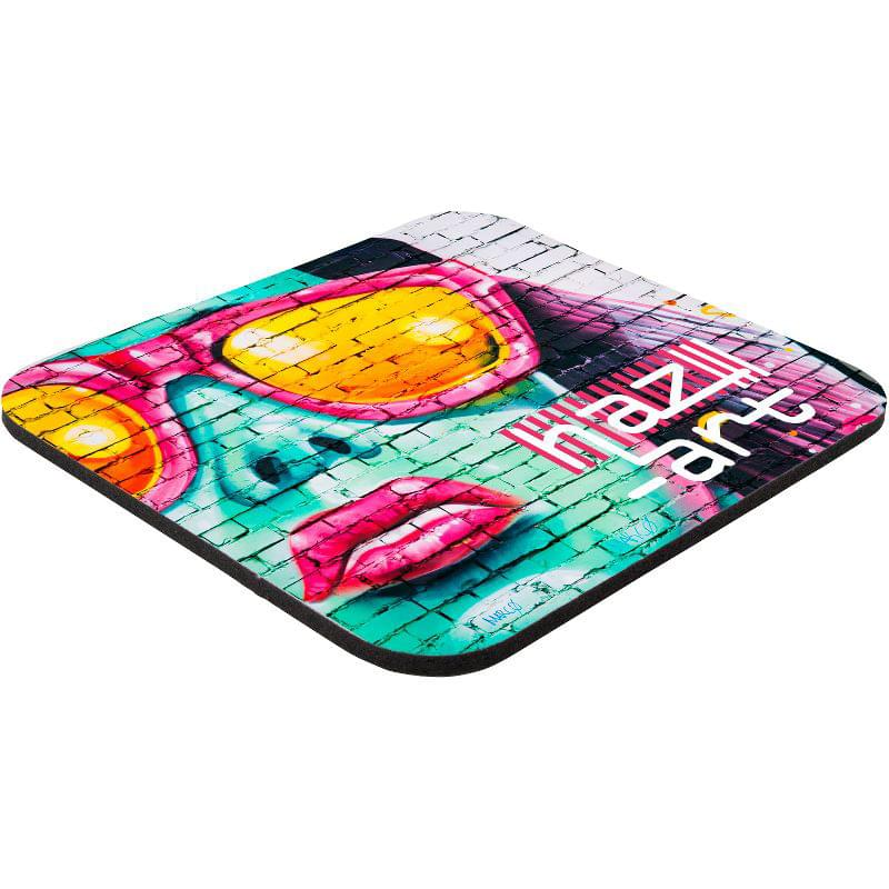 "7"" x 8"" x 1/4"" Full Color Hard Surface Mouse Pad"