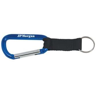 8mm Carabiner w/ Blk Strap