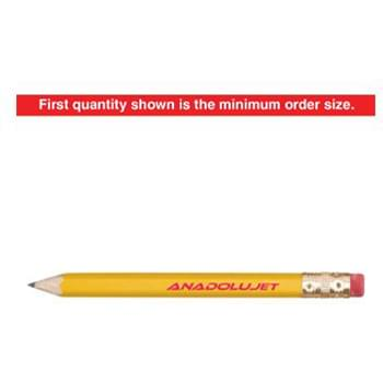 Hex Wooden Golf Pencil with Eraser