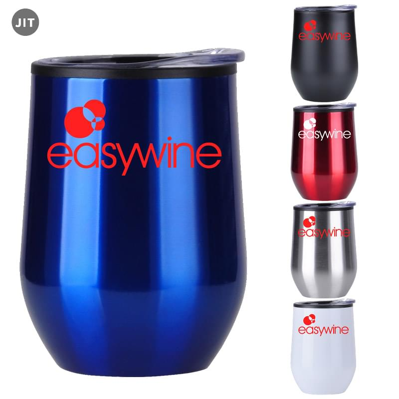 12 oz Stainless Wine Tumbler w/ Plastic Liner