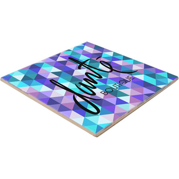 "6"" Sq. Ceramic Trivet with Gloss Finish"