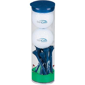 2 Ball Tall Tube w/ Pinnacle Rush Golf Balls