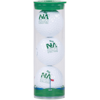 3 Ball Clear Tube with Warbird 2 Golf Ball