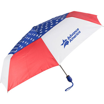 "44"" Auto Open Auto Close USA Umbrella"