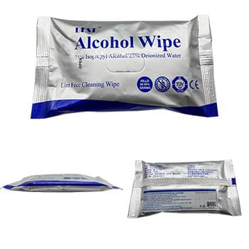 10 Pack Alcohol Wipes