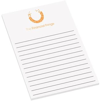 "4"" x 6"" Adhesive Sticky Notepad - 25 Sheets"