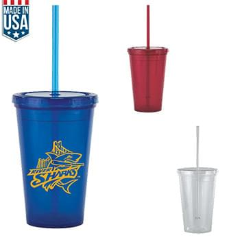16 oz Bolero Tumbler with Straw