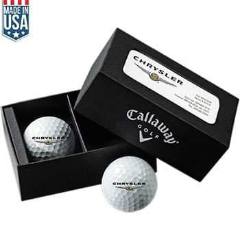 Callaway 2-Ball Business Card Box w/ Warbird
