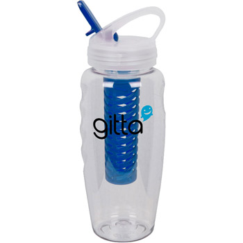28 oz Polyclear Gripper Color Fusion Bottle