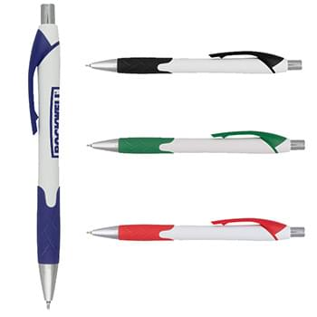 Harmony Super Glide White Pen with Colored Gripper