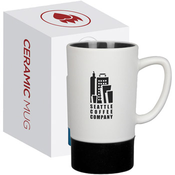 16 oz Monument Ceramic Mug with Silicone Accent