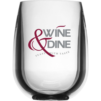 12 oz Stemless Wine Synthetic Glass