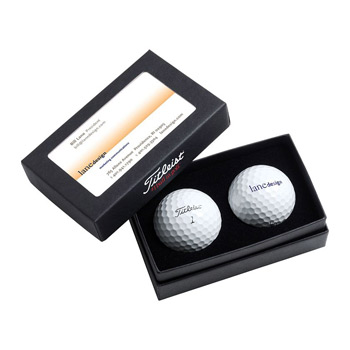 Titleist 2-Ball Business Card Box w/ DT TruSoft