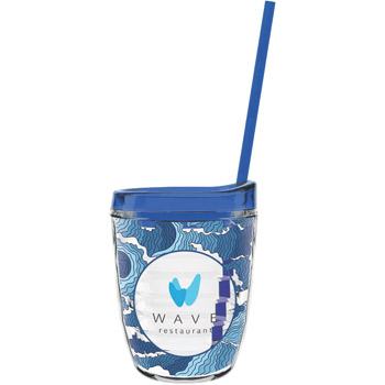 12 oz Made In The USA Tumbler w/ Lid & Straw