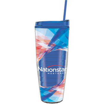 26 oz Made In The USA Tumbler w/ Lid & Straw